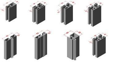 Guias de persiana y alargadores de guía en color blanco o cualquier color madera
